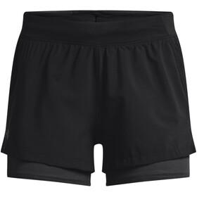 Under Armour Isochill Run 2-i-1 shorts Damer, sort